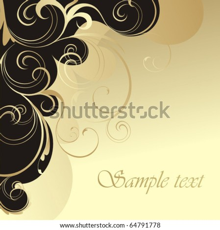 Vector vintage cover - stock vector