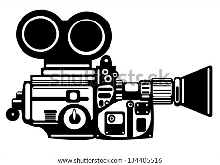 Camera Vintage Vector Free : Vector vintage film camera isolated on stock vector royalty free