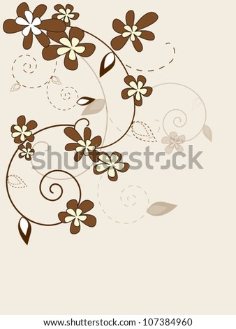 Vector vintage floral background with flowers