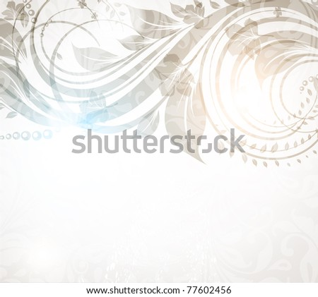 vector vintage floral design - stock vector