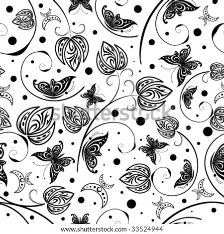 vector vintage floral seamless pattern