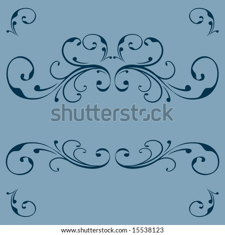 Vector vintage flourish ornament design with space for your text or logo - stock vector