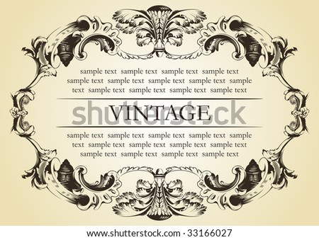 vector vintage frame cover stock - stock vector