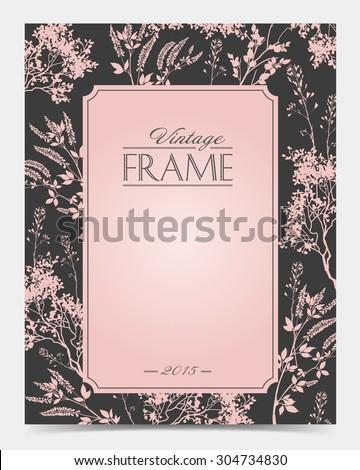 Vector vintage frame retro decor ornament old - stock vector