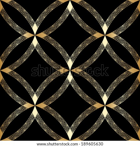 Vector vintage gold luxury ornament. Seamless background. - stock vector