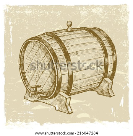 vector vintage hand drawn illustration of wine