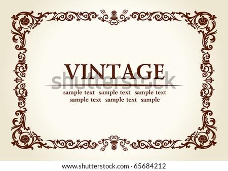 vector vintage heraldic imperial frame decor - stock vector