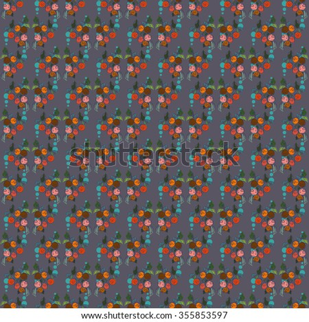 Vector vintage inspired seamless floral pattern