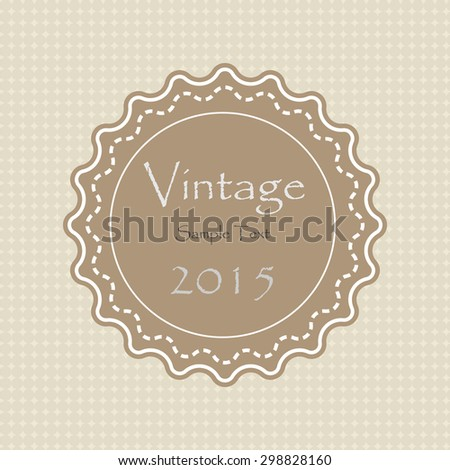 vector vintage label  - stock vector