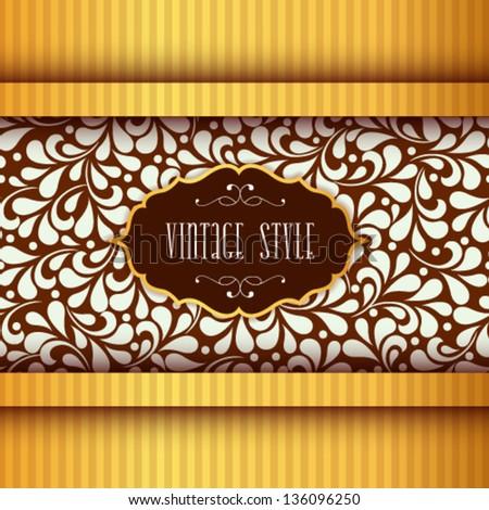 Vector vintage label background. Packing design template. Editable creative illustration. - stock vector