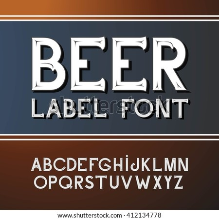 Vintage Beer Label Stock Images, Royalty-Free Images & Vectors ...