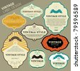 Vector vintage label set - stock vector