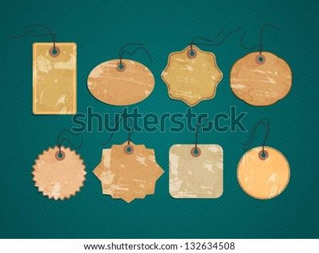 vector vintage labels - stock vector