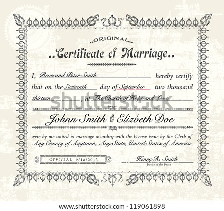 Marriage Certificate Stock Images RoyaltyFree Images  Vectors