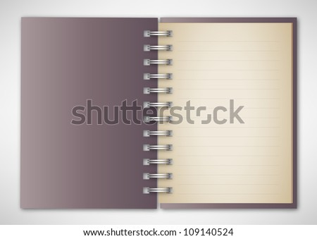 Vector Vintage Notebook - stock vector