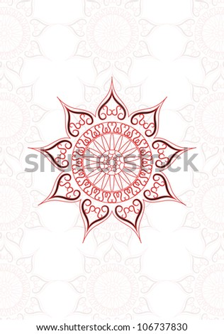 vector vintage paisley backdrop, may be used as a greeting card - stock vector