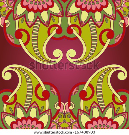 Vector vintage pattern for print, embroidery (you can use this pattern for carpet, shawl, pillow, cushion).
