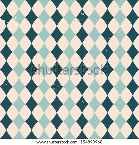 Vector vintage pattern with rhombuses - stock vector