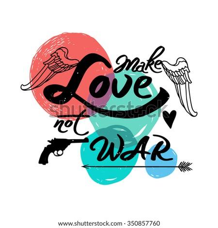 vector vintage poster make love not stock vector 350857760 rh shutterstock com Apply Clip Art Let's Screw Clip Art