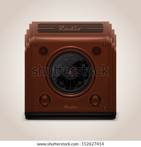 vector vintage radio - stock vector