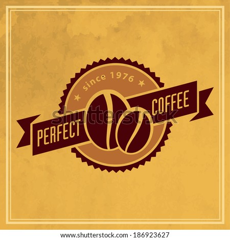 Vector vintage retro coffee badges and labels