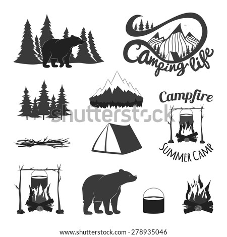 Vector Vintage Set Icons Emblems Logos Stock Vector ...