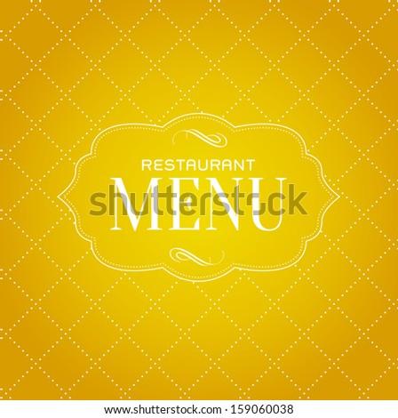 Vector vintage simple restaurant menu cover - stock vector
