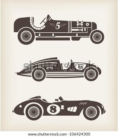 racing in car vintage