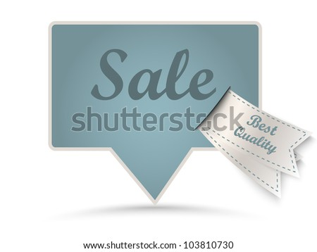 Vector vintage sticker with retro labels - sale - stock vector