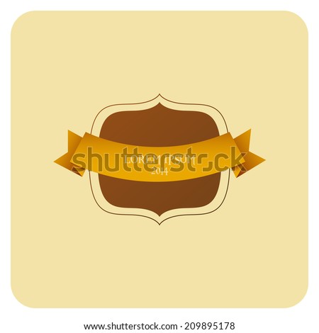 Vector Vintage Stylish Label Isolated On Background - stock vector