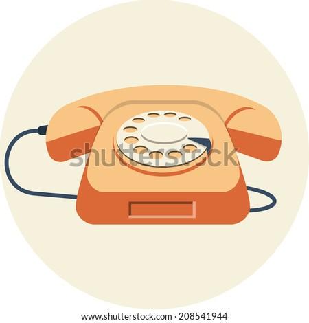 Vector Vintage  Telephone  - stock vector