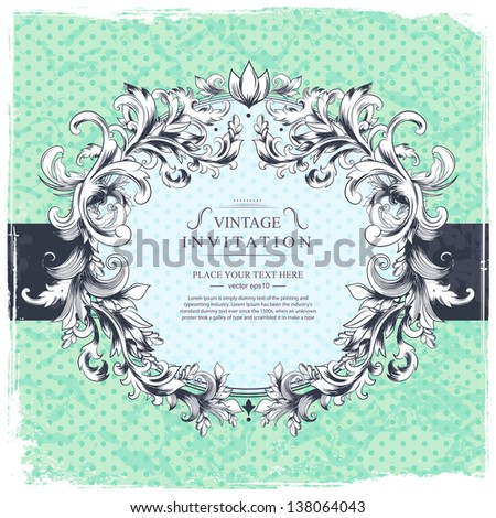 Vector vintage template can be used as a banner, greeting card, invitation or menu