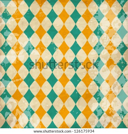 Vector vintage texture with rhombuses - stock vector