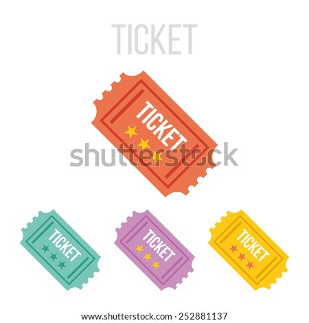 Vector vintage ticket icons.