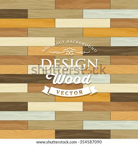 Vector Vintage Tile wood floor striped concept design background,illustration - stock vector