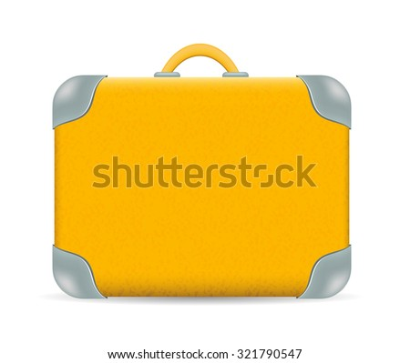Vector vintage Travel Suitcase isolated on white