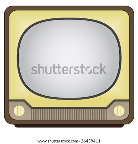 vector vintage tv - stock vector