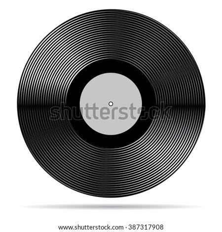 Vector vinyl record. - stock vector