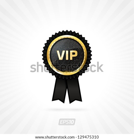 Vector vip black label - stock vector