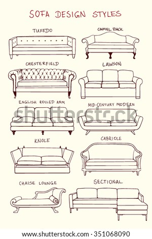 Sectional sofa stock images royalty free images vectors for Sofa design sketch