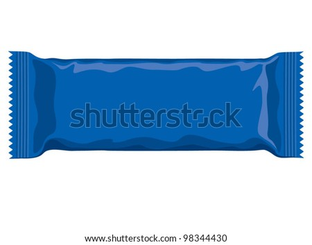 Vector Visual Blue Flow Wrap Plastic Stock Vector 98344430 ...