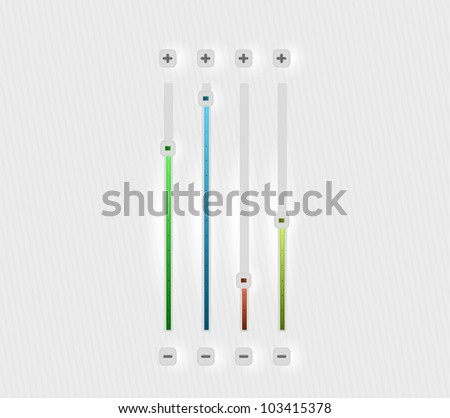 Vector volume bar set - stock vector