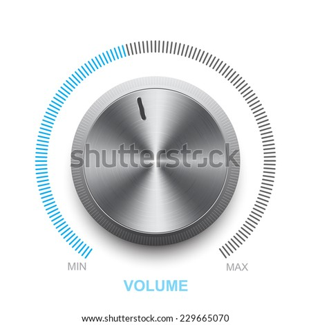Vector volume control on a white background - stock vector