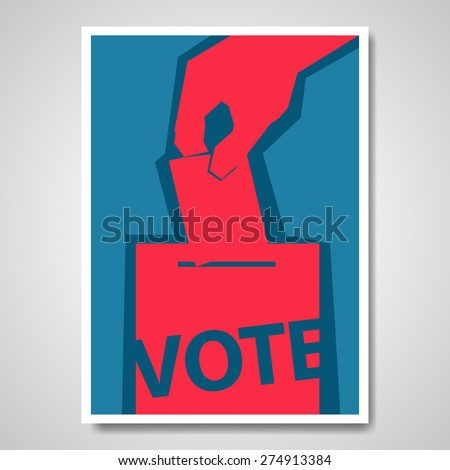 Vector vote election cover design - stock vector