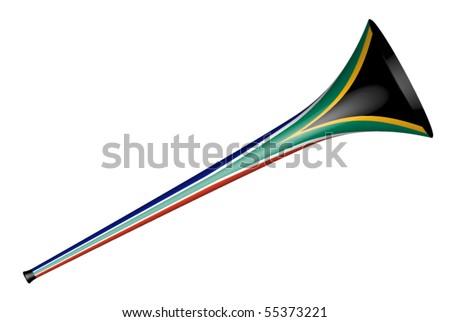 vector vuvuzela - south africa design - stock vector