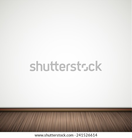 Vector wall with wooden floor. Eps 10