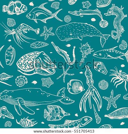 Vector Wallpaper Of Sea Animal