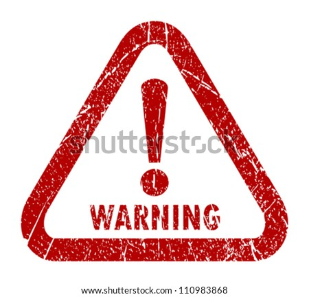Vector warning stamp - stock vector