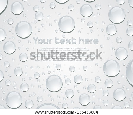 Vector water bubble background eps10 - stock vector