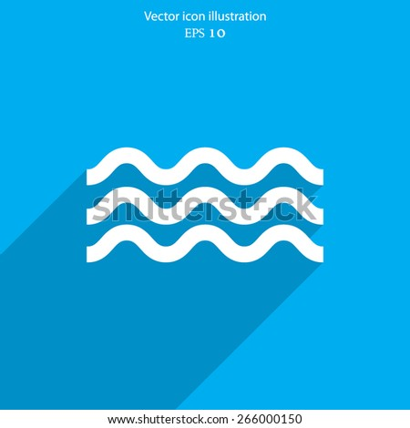 Vector water flat icon illustration. - stock vector